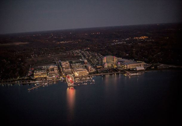 Night view of National Harbor
