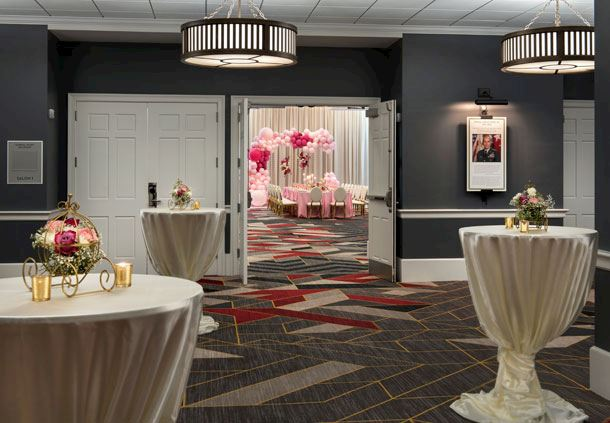 General Vessey Ballroom Foyer - Social Setup