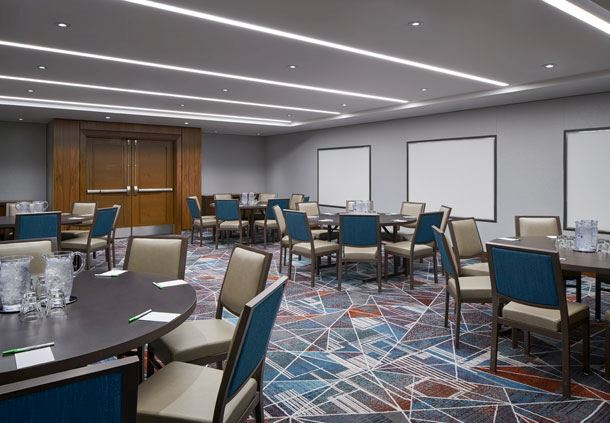 Howard Meeting Room - Rounds Setup
