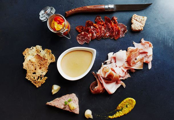 The Auberge's Famous Charcuterie Plate