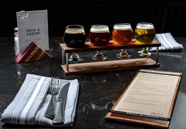 The Shoe & Canoe Public House - Beer Flight