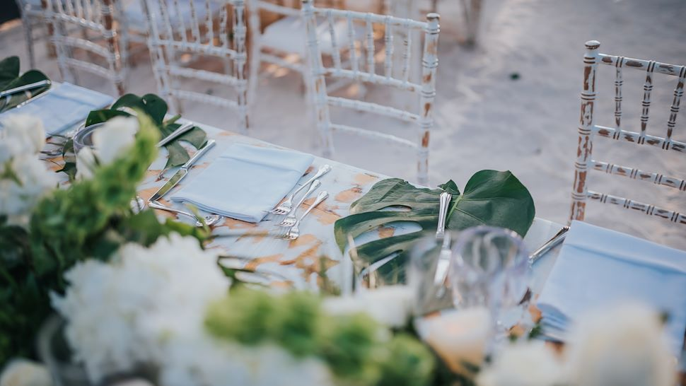 Iguana Beach Weddings Setup