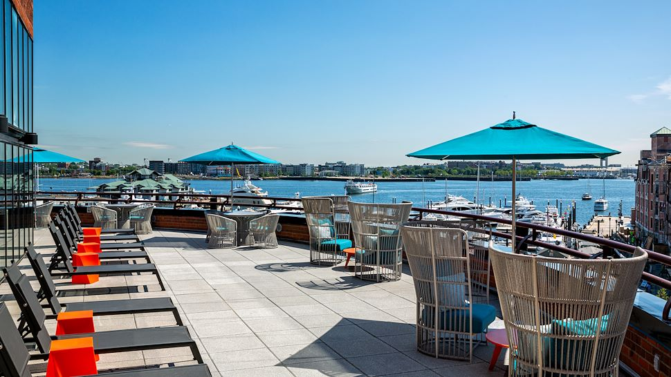 harbor views from our seasonal outdoor pool