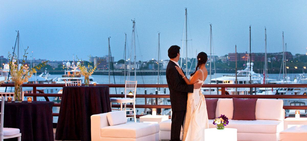 Outdoor wedding venue Boston, MA.