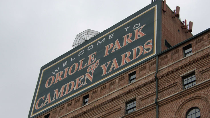 Oriole Park and Camden Yards Sign