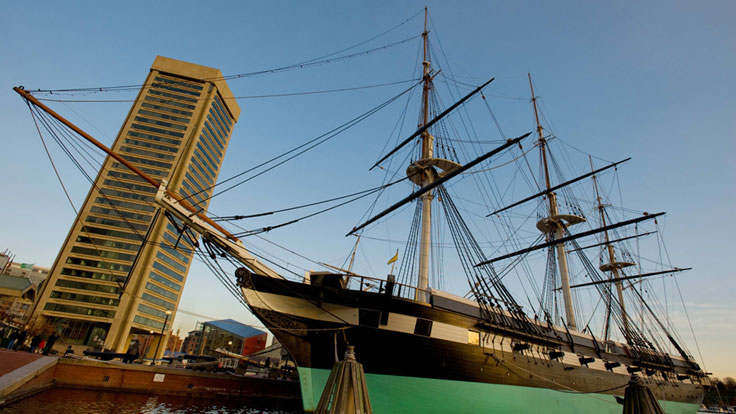 Clipper Ship in Habor