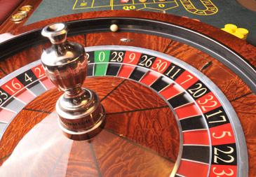 Cairo hotel casino roulette wheel.