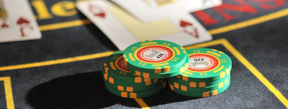 Casino table in Cairo, Egypt.