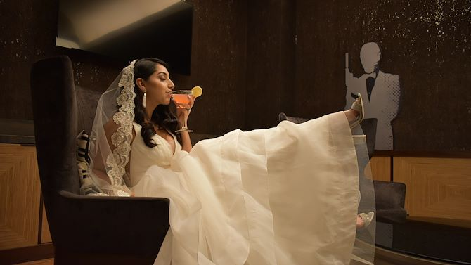 Bride in 007 Room