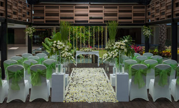 Bali garden wedding venue