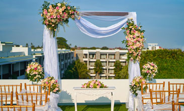 Bali beachfront wedding reception venue