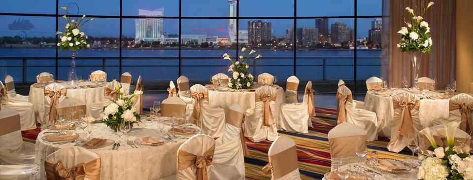 Wedding Reception Venues In Detroit Detroit Marriott At