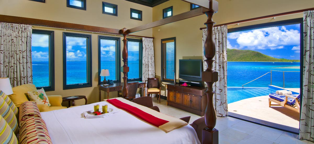 Caribbean ocean view villa rental