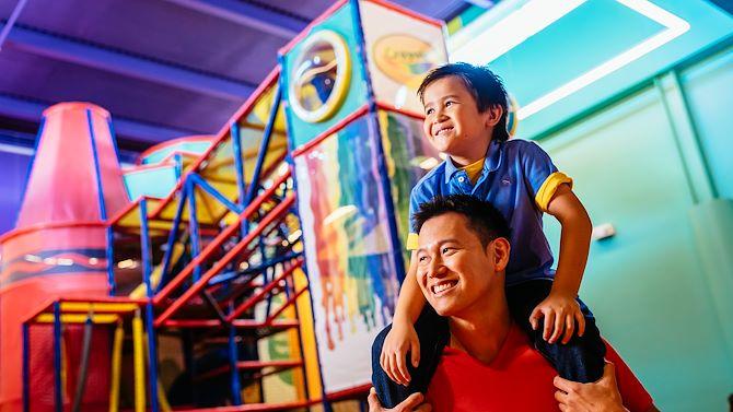 Crayola Dad with Son