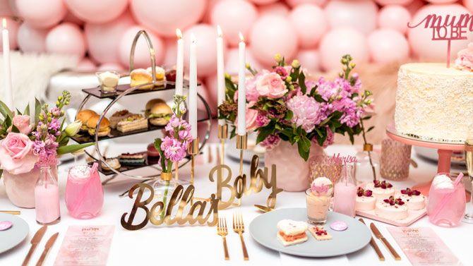 bella's baby pink baby shower