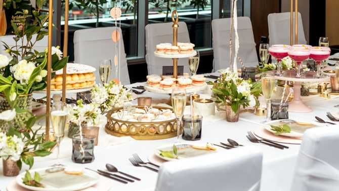 Wedding Flowers and table setting