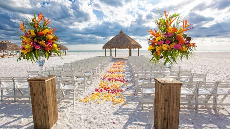 Private beach wedding Florida.