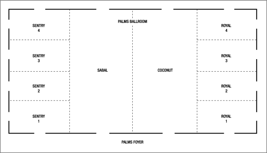 Wedding Event Space Floor Plans at the Marco Island