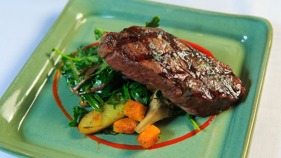 Wood-fired NY Steak