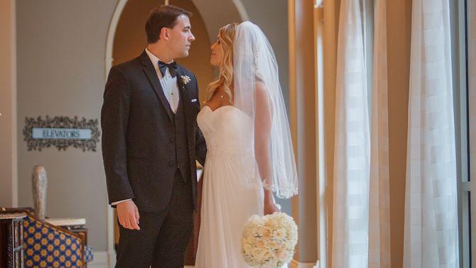 Wedding Couple Hallway