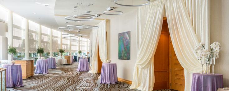 San Jose Ballroom Foyer - Wedding Setup