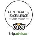 trip advisor 2015 certificate of excellence hotel restaurant logo