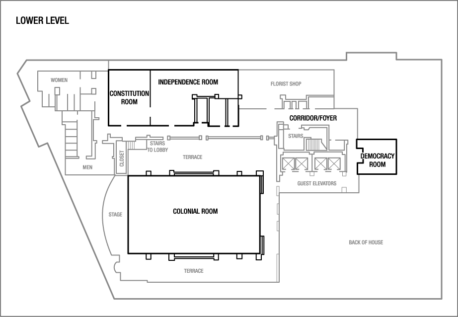 Floor Plans at the The Mayflower Hotel