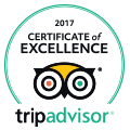 trip advisor 2017 certificate of excellence hotel logo
