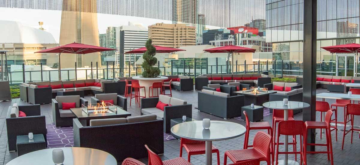 Gallery rooftop bar